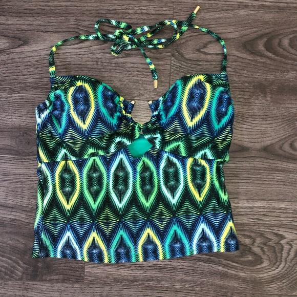 Laundry By Shelli Segal Other - Laundry by Shelli Segal Geometric Bikini Top M New